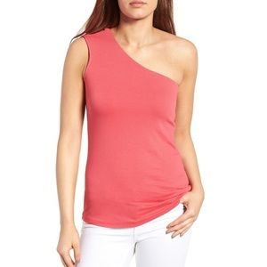 NWT Bobeau One Shoulder Top Small Nordstrom